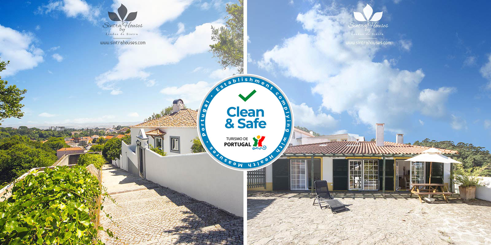 """Sintra Houses by Lendas de Sintra has been accredited by """"Clean & Safe"""""""